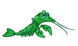 Crayfish cartoon illustration Stock Photos