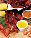 Crayfish Dinner Stock Image