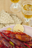 Crayfish dinner Royalty Free Stock Images