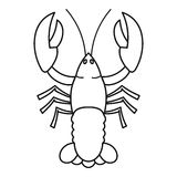 Crayfish icon, outline style Stock Photography
