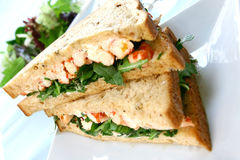 Crayfish/king prawn sandwich Stock Photo