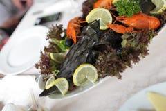 crayfishes заполнили стерляжину Стоковые Фотографии RF