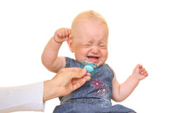 craying的婴孩 免版税库存图片