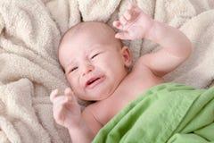 Craying newborn baby Royalty Free Stock Photos