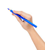 Crayon à disposition Photos stock