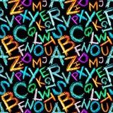 crayon алфавита безшовный Стоковая Фотография RF