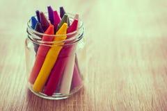 Crayon в стеклянной бутылке Стоковое Фото