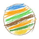 Crayon или карандаш любят предпосылка круга радуги ` ребенк нарисованная s красочная Как ` s ребенка нарисованный пастельный элем Стоковые Изображения