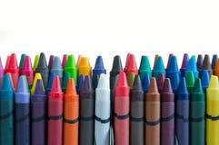 Crayon на белой предпосылке Стоковые Изображения