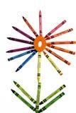 crayon цветок Стоковые Фотографии RF