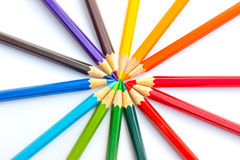 Crayon. On a weight background royalty free stock images