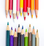 Crayon. On a weight background royalty free stock photo