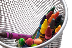 Crayon 3. An assorted color crayon on a white background Stock Images