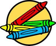 crayon stock illustrationer