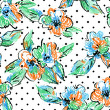 Crayon abstract flowers and leaves background. Stock Photos