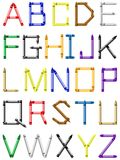 Crayon alphabet - english characters Stock Images
