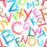 Crayon alphabet seamless Royalty Free Stock Photo