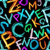 Crayon alphabet seamless Royalty Free Stock Images
