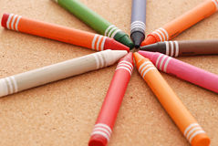 Crayon Arrangement Royalty Free Stock Images