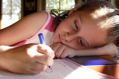 Crayon artist Stock Images