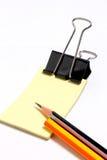 Crayon avec l'étiquette photo libre de droits