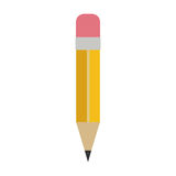 Crayon avec l'icône de gomme illustration libre de droits