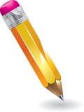 Crayon avec la gomme à effacer Photographie stock libre de droits