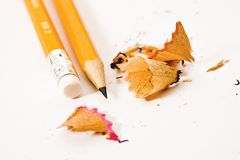 Crayon avec la gomme à effacer Photos stock