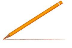 Crayon avec la ligne tirée Photo libre de droits
