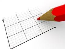 Crayon avec le programme. Image stock