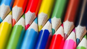 Crayon,Back to school, education concept.group of colored pencils lie in a circle