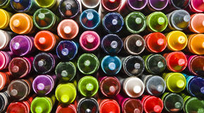 Crayon Background. Crayons stacked into a colorful background Stock Photos