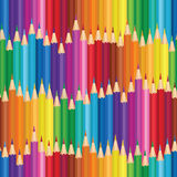 Crayon background. Colorful pencil seamless pattern. Stock Image