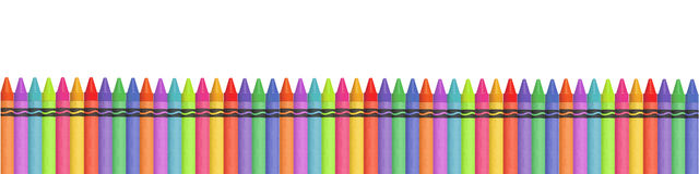 Crayon Banner Royalty Free Stock Photo
