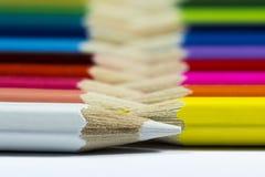Crayon blanc d'abord Photographie stock libre de droits