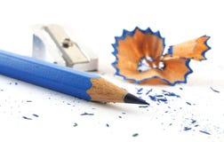 Crayon bleu Photo libre de droits