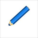 crayon bleu de graphisme Photo stock