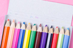 Crayon in box Royalty Free Stock Image