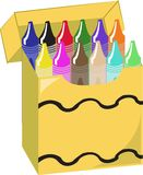 Crayon Box Stock Photography