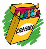 Crayon Box Royalty Free Stock Image