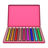 Crayon Box on White Royalty Free Stock Images