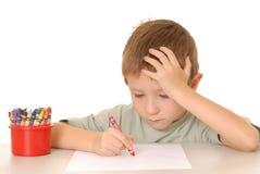 Crayon Boy Stock Image