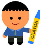 Crayon for business Royalty Free Stock Photo