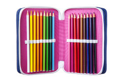 Crayon Case Isolated Stock Photography