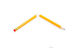 Crayon cassé Images libres de droits