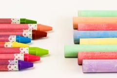 Crayon and Chalk. Royalty Free Stock Image
