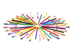 Crayon circle Royalty Free Stock Photography