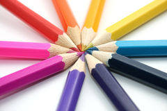 Crayon circle Royalty Free Stock Photo