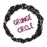 Crayon circle isolated on white Stock Photo