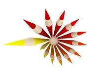 Crayon Circle - Top view Royalty Free Stock Image